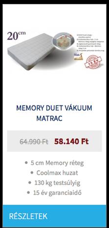 Memory Duet vákuum matrac